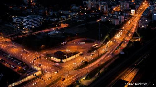 Gdynia Nocą - Węzeł Franciszki Cegielskiej