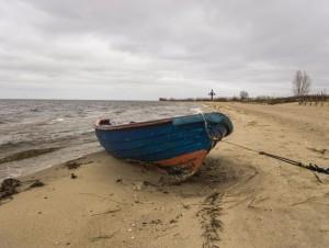 Łódź - plaża w Rewie