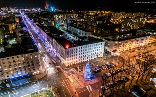 Urząd Miasta Gdynia nocą
